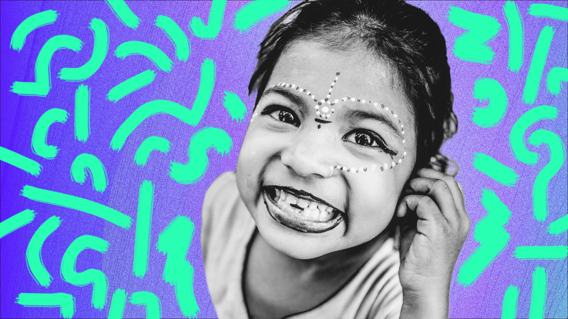 smiling indian child