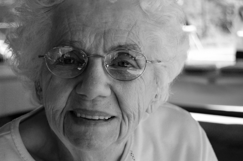 picture of elderly lady. The elderly have less chance of surviving covid 19